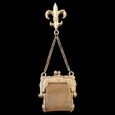 Vintage chatelaine purse for doll