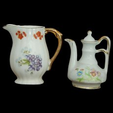 Vintage mini pitcher & teapot