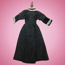 Velour patterned taffeta doll dress