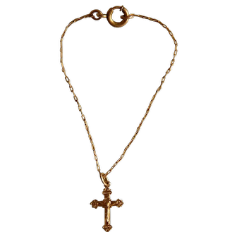 Tiny 14KT gold rosary for doll