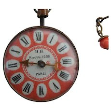 Antique Paris doll pocket watch