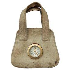 Rare French fashion clock purse