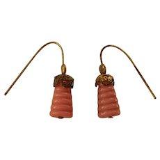 Dusty pink doll earrings