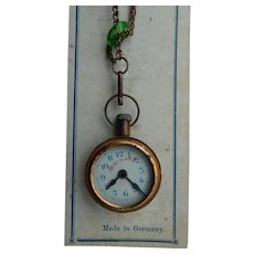 German toy watch on card