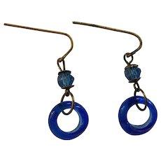 Antique doll hoop earrings