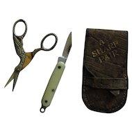 French fashion stork scissors set