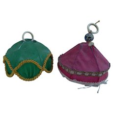 Antique hanging lampshades