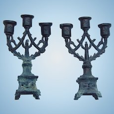 Antique dollhouse candelabras