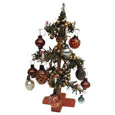 Antique dollhouse Christmas tree