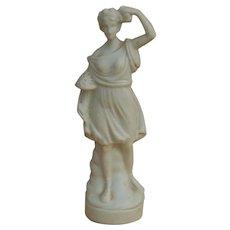 Antique dollhouse German statue