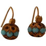 Gorgeous antique French bebe earrings