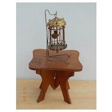 Nice antique oak dollhouse table