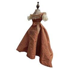 Antique silk Enfantine fashion dress & petticoat