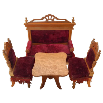 Beautiful antique dollhouse chairs