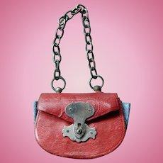Red French fashion doll purse