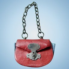 Red French fashion doll purse