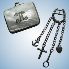 French sailor's chatelaine/MOP purse for bebe