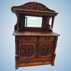 """13"""" Antique salesman's sample cupboard"""