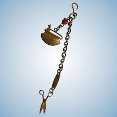 Tiny old chatelaine for doll