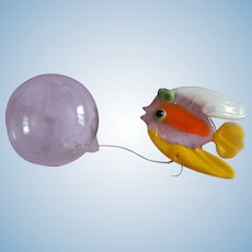 Glass fish & air bubble for doll