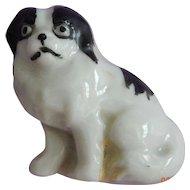 German porcelain dog pin for doll