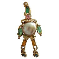 Vintage jester pin for doll