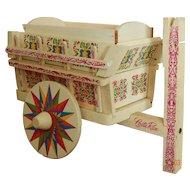 Vintage souvenir wagon for dolls