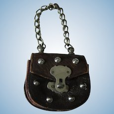 Nice antique leather French fashion purse