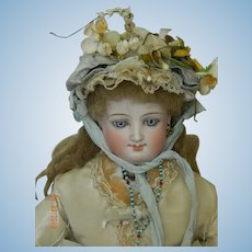 Antique bonnet for French fashion or bebe