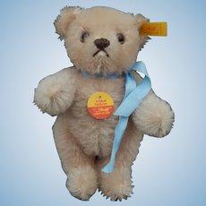 """Adorable Steiff pink mohair bear-6"""""""