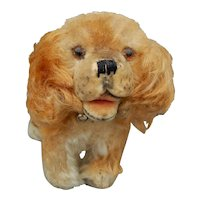 Cute vintage Steiff mohair dog-5""