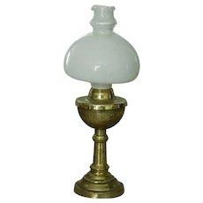 Vintage miniature hurricane lamp