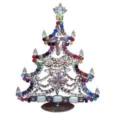 Vintage Czech Rhinestone Christmas tree