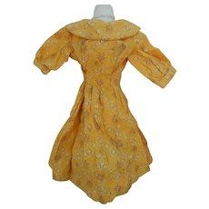 Antique hanky print dress for slim doll