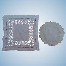 Beautiful antique doll linens/handkerchiefs