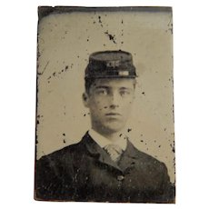 Gem tintype young Union Civil War soldier