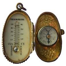French fashion MOP thermometer/compass