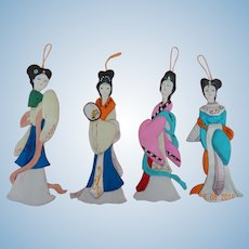 Vintage silk geisha