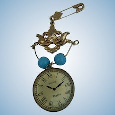 Lovely vintage watch pin for bebe