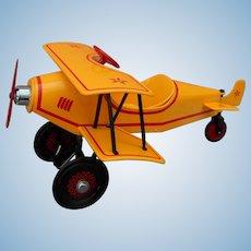 Vintage Kiddie Car custom biplane