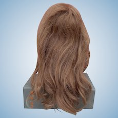 Vintage strawberry blonde human hair doll wig