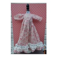 Pretty vintage homemade dress for slim doll
