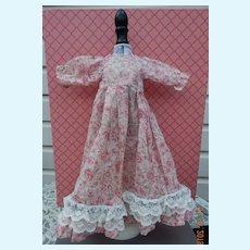 Pretty vintage homemade dress for slim doll