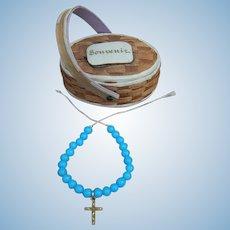 French fashion Souvenir basket & necklace