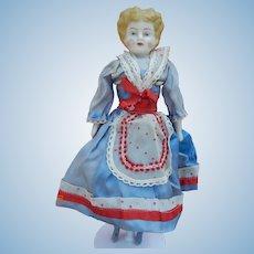 "Cute 12"" bisque china head doll"