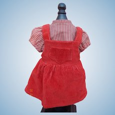 Vintage doll corduroy jumper outfit