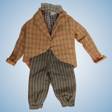 Cute vintage suit for slim male doll