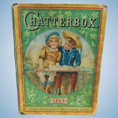 1893 Chatterbox for antique doll display