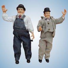 Vintage Laurel & Hardy dolls