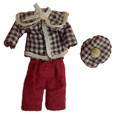 "Cute vintage outfit for 6""-7"" boy doll"